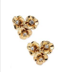Kate Spade Shine On Gold Flower Cluster Earrings
